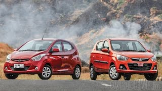 Hyundai Eon 1.0 vs 2015 Maruti Suzuki Alto K10 in India
