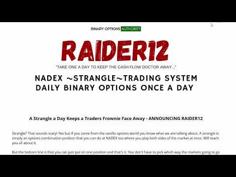 RAIDER12 NADEX STRANGLE Trading System Daily Review and Overview