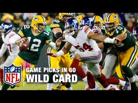 Wild Card Game Picks in 60 Seconds ⏱