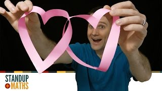 Romantic Mathematical Shape: möbius-loop hearts