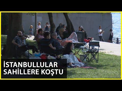 İstanbul'da Nem Bunalttı, Vatandaşlar Sahile Akın Etti