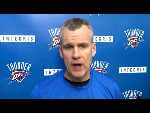 connectYoutube - Billy Donovan Before The Game Against Cavaliers / Thunder vs Cavs