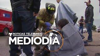 Rescatan a 3 hombres y 2 mujeres migrantes de una tubería inundada   Noticias Telemundo