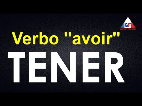 VERBO #AVOIR  (TENER) EN  PRESENTE CON EJEMPLOS