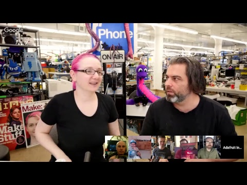SHOW-AND-TELL LIVE VIDEO! 5/9/18 (video) @adafruit #adafruit #ShowAndTell