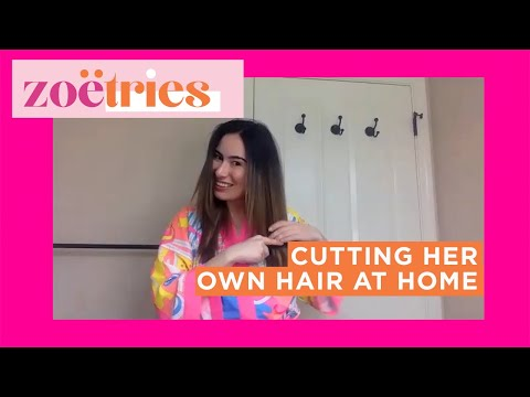 I Learned How To Cut My Own Hair With A Professional Stylist | Zoë Tries It All | Well+Good