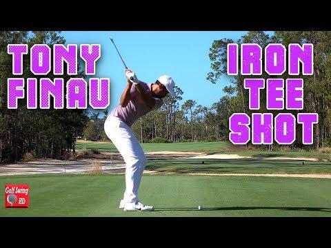 TONY FINAU DTL IRON TEE SHOT SLOW MOTION GOLF SWING QBE TIBURON