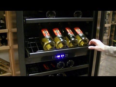 Vinotemp Designer Series 149 Bottle Seamless Dual-Zone Wine Cooler