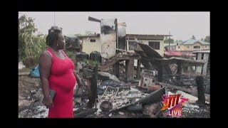 Seven Homeless In Moruga After Fire