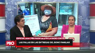 LA VERDAD DE LAS FALLAS EN LAS ENTREGAS DEL BONO FAMILIAR ???? #PBORadio 91.9 FM ¡LA RADIO CON FE!