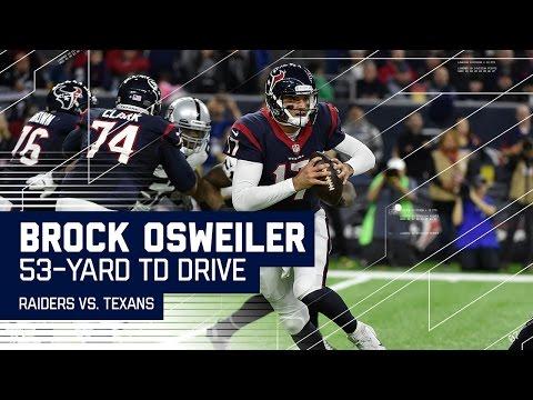 Brock Osweiler Leads Big 4Q Touchdown Drive! | Raiders vs. Texans | NFL Wild Card Highlights