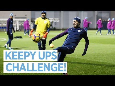 KEEPY UPS CHALLENGE! | Pre Leicester Training