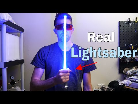 Making a Real Lightsaber Using Rydberg Atoms and Photonic Molecules