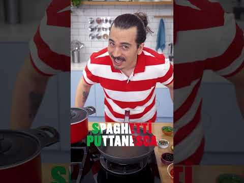 Yeriz Biz Bunları! İlk Rakip Mutfak: İTALYA / Spagetti Puttanesca Tarifi #Shorts