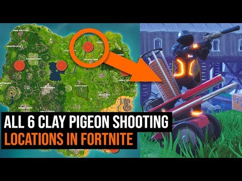 All 6 Clay Pigeon Shooting Locations In Fortnite