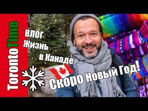 ВЛОГ Рождественский Торонто ? новогодние украшения, витрины, каток, ярмарка ?? Жизнь в Канаде