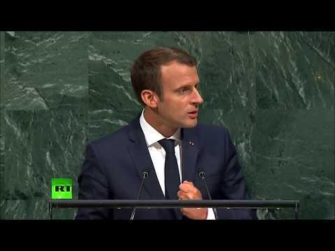 French President Emmanuel Macron addresses UNGA (FULL SPEECH)