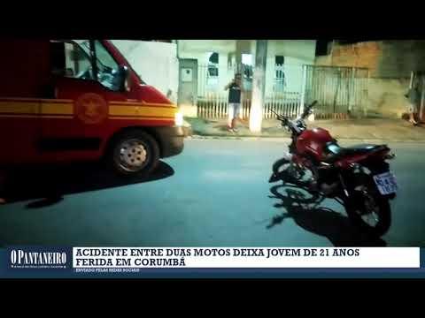Acidente entre duas motos deixa jovem de 21 anos ferida em Corumbá