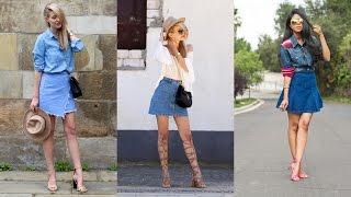 15 Ways to Wear a Denim Skirt