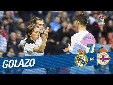 Golazo de Modric (4-1) Real Madrid vs RC Deportivo