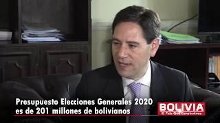 PRESUPUESTO ELECCIONES BS. 201 MILLONES