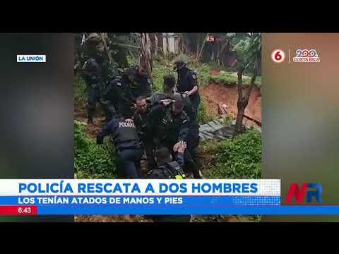 Policía rescata a dos hombres atados de manos y pies