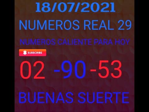 NUMEROS PARA HOY 18/07/2021 DE JULIO PARA TODAS LAS LOTERIAS