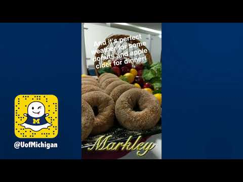 Snapchat Story: Friendsgiving at the Dining Halls