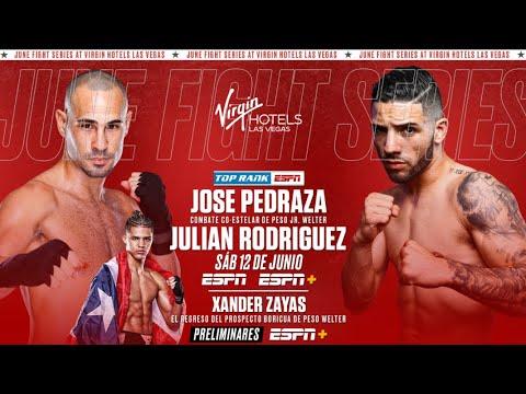 Jose Pedraza vs Julian Rodriguez, experiencia vs juventud, con aspiraciones de pelea titular