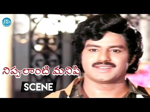 connectYoutube - Nippulanti Manishi Movie Scenes - Balakrishna Meets His Childhood Friend Sarath Babu  || Radha