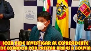 ECUADOR PRESTO ARM4S A JEANINE AÑEZ PARA MAS4CRAR AL PUEBLO BOLIVIANO DURANTE GOBIERNO DE AÑEZ.