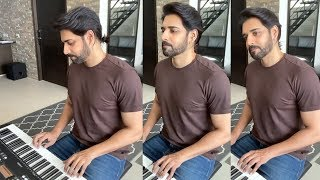 Hero Sushanth Play Manam Theme Song With Piano | IG telugu - IGTELUGU