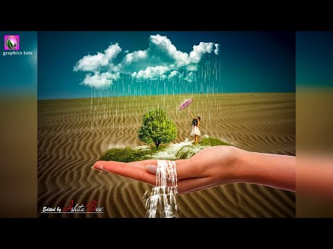 3D Waterfall On Hand - Concept Art - Photo Manipulation Tutorial