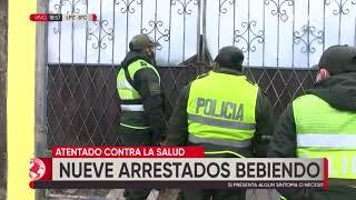 9 detenidos este miércoles consumiendo bebidas en un domicilio de la Radial 17 y 1/2