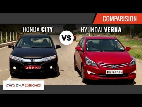 2015 Honda City Vs Hyundai Verna I Comparison Video I CarDekho.com - Honda Videos