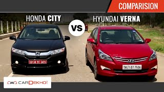 2015 Honda City Vs Hyundai Verna I Comparison Video I CarDekho.com - Honda Videos