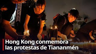 Hong Kong conmemora las protestas de Tiananmén pese a prohibición de vigilia