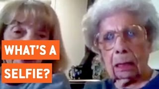103 Year Old Woman Confused By Technology | What's a Selfie?
