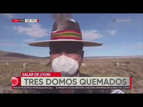Tres domos turísticos fueron quemados en el Salar de Uyuni por enfrentamiento de límite territorial