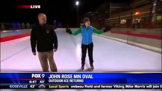 فيديو:مراسلة تلفزيونية تستمر في إجراء حوار رغم سقوطها على الجليد