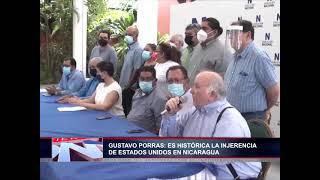 Presidente de la AN, Gustavo Porras, reitera que es histórico injerencia de los EE.UU a Nicaragua