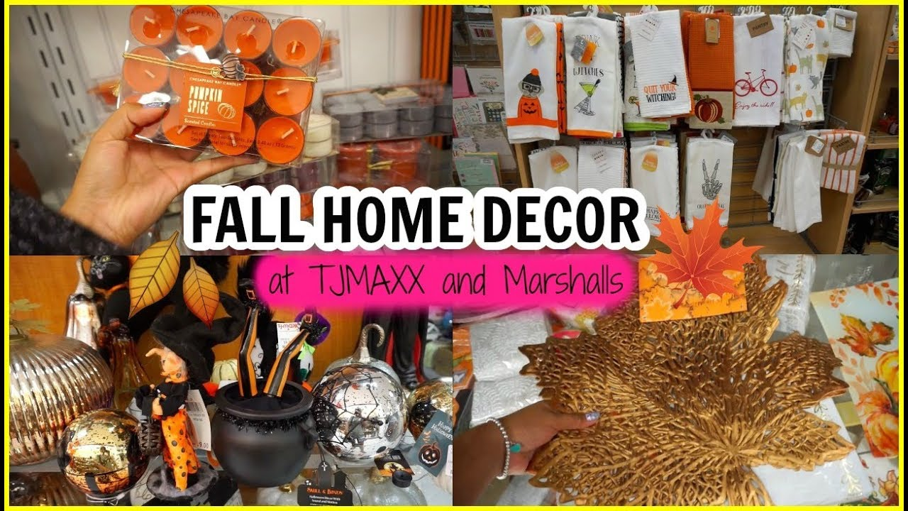 Come shop with me: FALL HOME DECOR at TJMAXX and Marshalls   Cute Halloween Finds at TJMAXX
