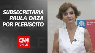"""Paula Daza y plebiscito en pandemia: """"Tomando las medidas de cuidado, el riesgo sanitario es menor"""""""