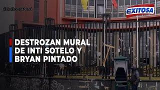 ????????Destrozan mural de Inti Sotelo y Bryan Pintado en la Corte Superior de Justicia