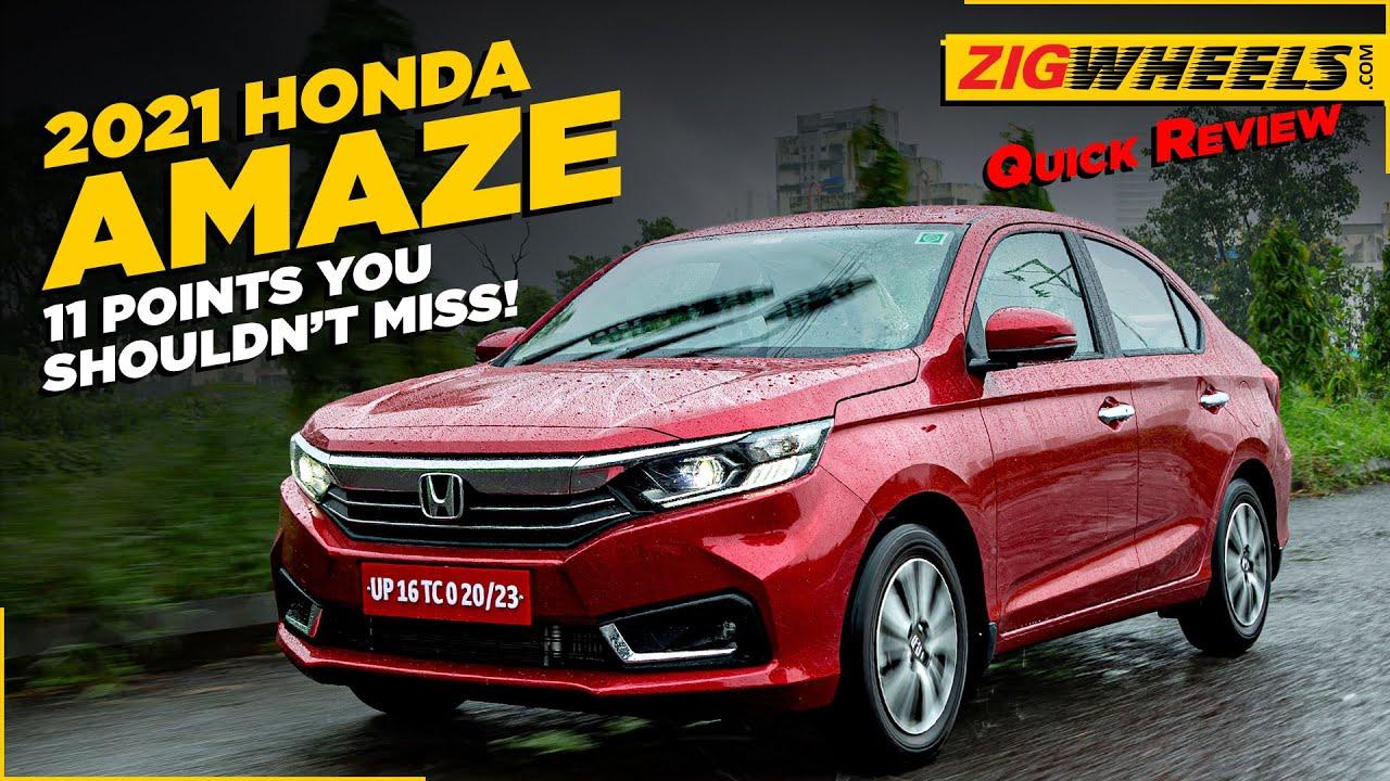 Honda Amaze 2021 Review: 11 Things You Should Know | ZigWheels.com