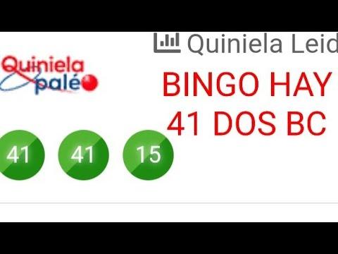 NUMEROS PARA HOY(41-41)BINGAZO HAY EN LA QUINIELA PALES