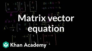 Solving the matrix vector equation