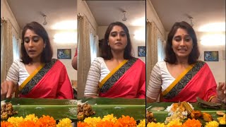 Actress Regina Cassandra Onam Celebration With Her Family | Actress Regina Latest Video - RAJSHRITELUGU