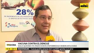 Solo quienes han padecido la enfermedad deben aplicarse la vacuna contra el dengue