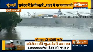 Incessant rainfall wrecks havoc in Mumbai, watch ground report from airport | IndiaTV - INDIATV